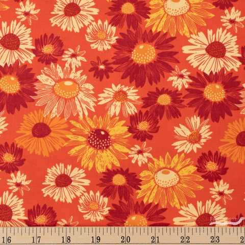 Marisol Ortega for FIGO, Flora, Blooms Dark Orange