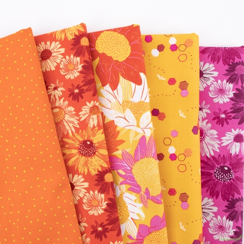 Marisol Ortega for FIGO, Flora, Sunny in FAT QUARTERS 5 Total
