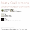 Mary Quilt Kit Featuring Charley Harper Barkcloth (PRECUT)