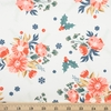 Maureen Cracknell for Art Gallery Fabrics, Cozy & Joyful, Frosted Roses