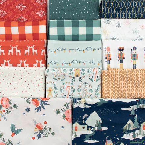 Maureen Cracknell for Art Gallery Fabrics, Cozy & Joyful, Ginger Joy
