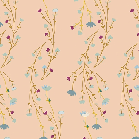 Maureen Cracknell for Art Gallery Fabrics, Garden Dreamer, Climbing Posies Blush