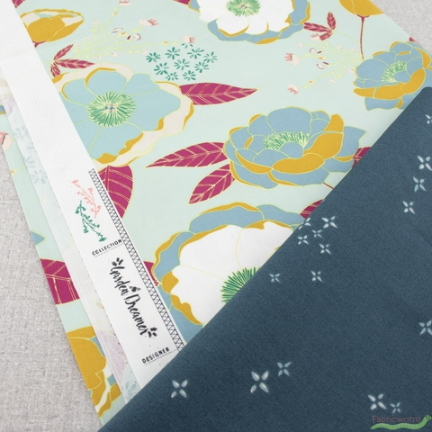 Maureen Cracknell for Art Gallery Fabrics, Garden Dreamer, Twinklestar Blu