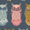 Maureen Cracknell for Art Gallery Fabrics, Nightfall, Bird Of Night Slate