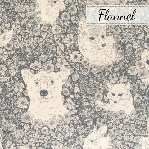 Maureen Cracknell for Art Gallery, Flannel, Wandering with Bear