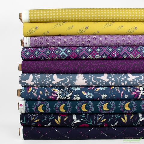 Maureen Cracknell for Art Gallery, Mystical Land, Mystique in FAT QUARTERS 10 Total