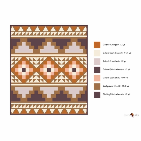 Mosaic Quilt Kit Featuring Birch Organic Solids From Suzy Quilts