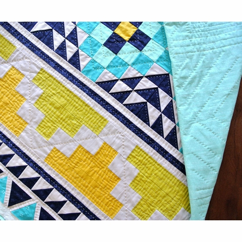Mayan Mosaic Quilt Kit Featuring Birch Organic Solids (PRECUT)