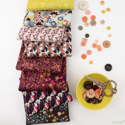 Megan Carter for Cotton and Steel, Emilia, Lady's Brunch in FAT QUARTERS 8 Total