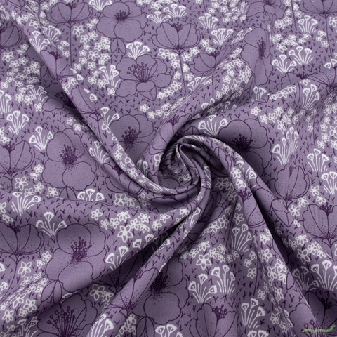 Megan Carter for Cotton and Steel, Emilia Rayon, Meghan Dusty Lilac