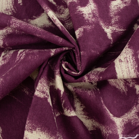 Megan Carter for Cotton + Steel, Glory Canvas, Harmony Crushed Berries Unbleached