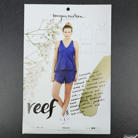 Megan Nielsen, Sewing Pattern, Reef Camisole and Shorts Set