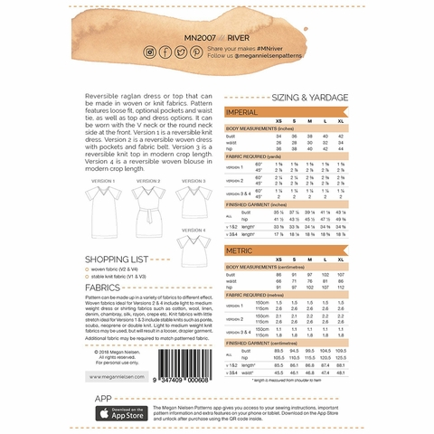 Megan Nielsen, Sewing Pattern, River Dress and Top
