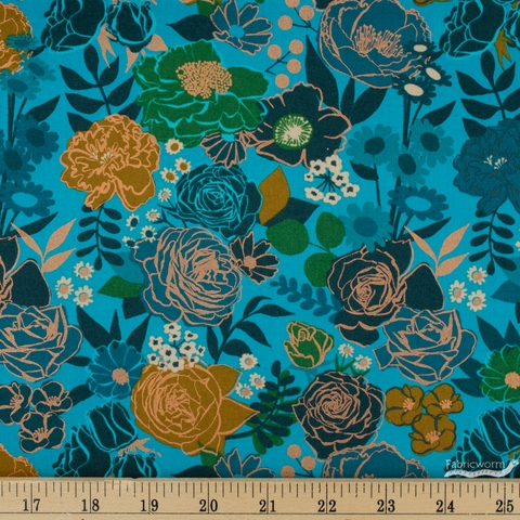 Melody Miller for Ruby Star Society, Rise, Grow Bright Blue Metallic