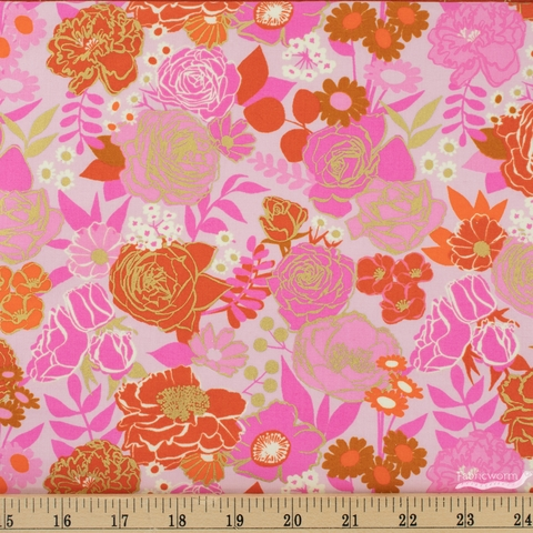 Melody Miller for Ruby Star Society, Rise, Grow Peony Metallic