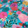 "Melody Miller for Ruby Star Society, Rise Sateen 108"" Wide, Bloom Bright Blue"