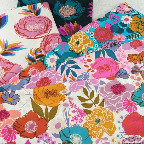 """Melody Miller for Ruby Star Society, Rise Sateen 108"""" Wide, Bloom Shell"""