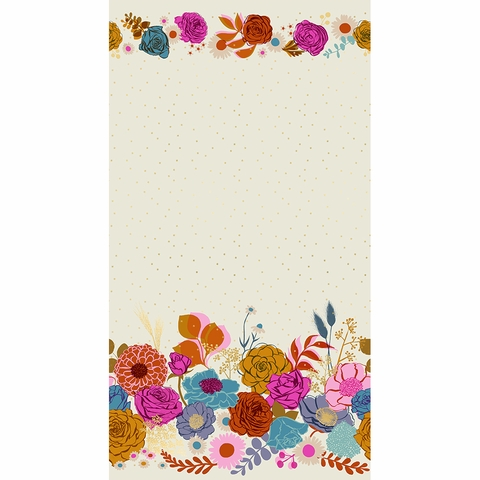 "Melody Miller for Ruby Star Society, Rise, Shine Shell Metallic Single Border (36"" Panel)"