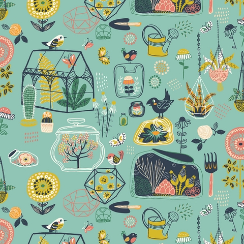 Miriam Bos for Birch Organic Fabrics, The Hidden Garden, Glass House