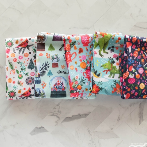 Miriam Bos for Dear Stella, Rebel Without a Claus Precut FAT QUARTERS 5 Total