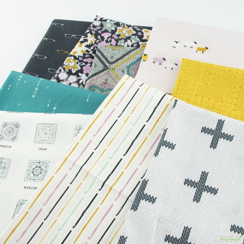 Mister Domestic for Art Gallery Fabrics, Hooked, Chain Stitch Crosses