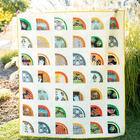 Mod Melons Quilt Kit Featuring Charley Harper Cats & Raccs Vol.2 by Suzy Quilts