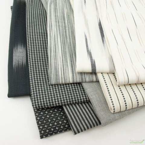 Moda, Boro Woven Foundations, Charcoal in HALF YARDS 9 Total