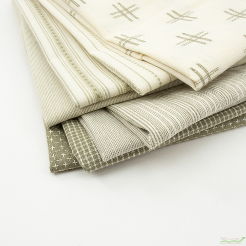 Moda, Boro Woven Foundations, Dash Stripe Cream