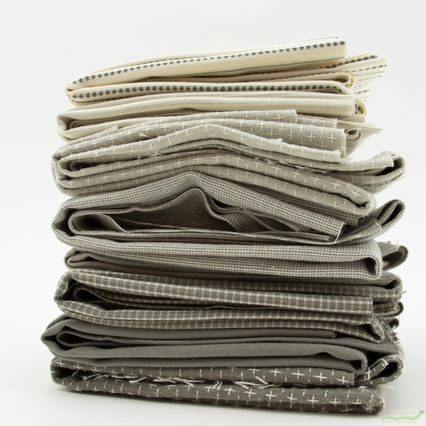 Moda, Boro Woven Foundations, Dovetail in FAT QUARTERS 8 Total