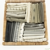 Moda, Boro Woven Foundations, Striped Charcoal