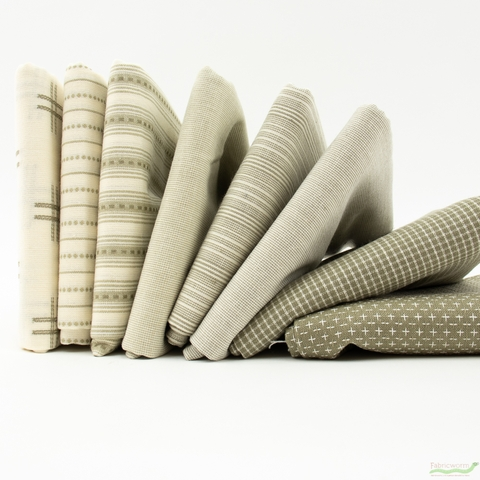 Moda, Boro Woven Foundations, Ticking Stripe Cream