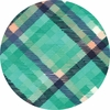 Moda, Midnight Garden, Tartan Plaid Pond
