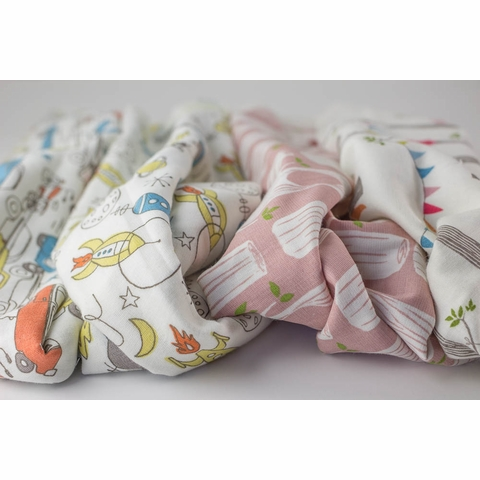Monaluna for Birch Organic Fabrics, DOUBLE GAUZE, Cars