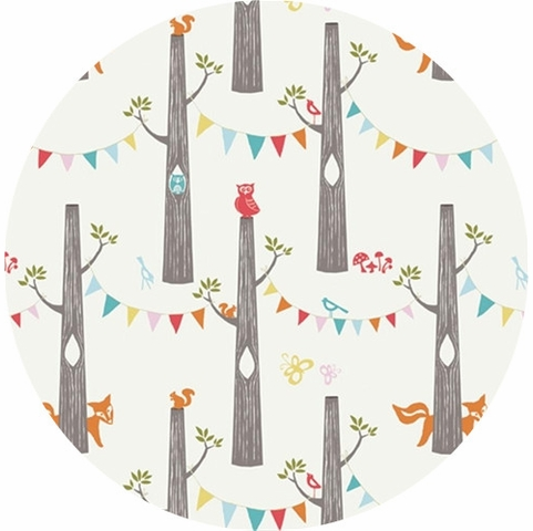 Monaluna for Birch Organic Fabrics, DOUBLE GAUZE, Woodland Party