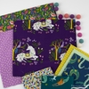 Monaluna Organic Fabric, Magical Creatures, Dots Lavender
