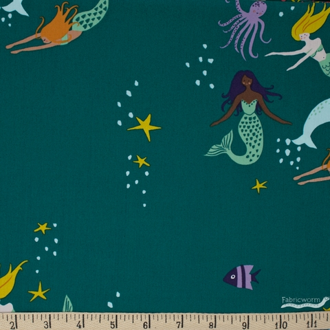 Monaluna Organic Fabric, Magical Creatures, Mermaid Party