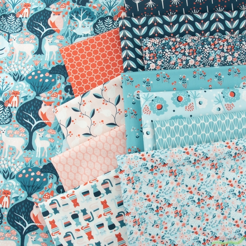 Monaluna Organic Fabric, Modern Love, Modern Meadow