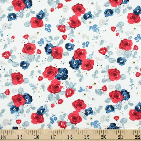 My Mind's Eye for Riley Blake, Land of Liberty, Floral Cream