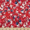 My Mind's Eye for Riley Blake, Land of Liberty, Floral Red