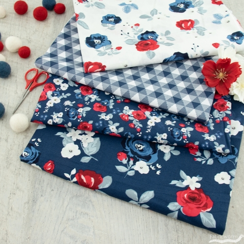 My Mind's Eye for Riley Blake, Land of Liberty, Gingham Navy