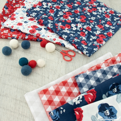 My Mind's Eye for Riley Blake, Land of Liberty, Gingham Red