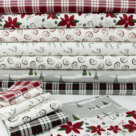 My Mind's Eye for Riley Blake, Winterberry, Plaid Red
