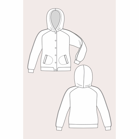 Named Clothing, Sewing Pattern, Augusta Hoodie