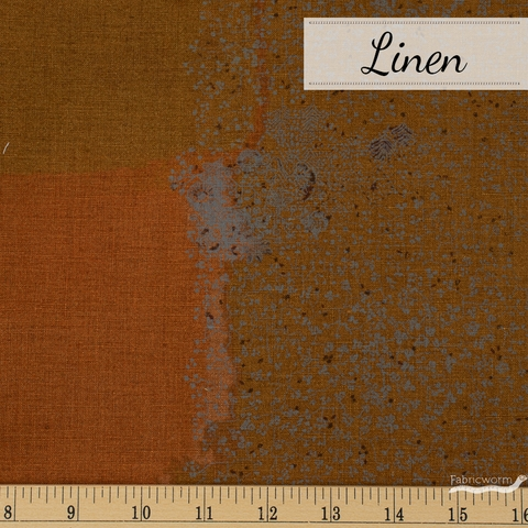 Nani Iro, Linen, Wildflower Umber Metallic