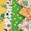 Naocom for Cotton + Steel, Kawaii Nakama, Animal Parade Cream