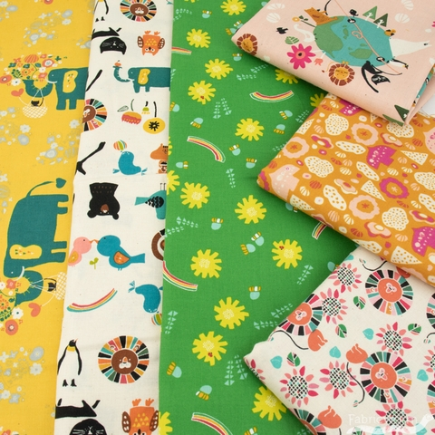 Naocom for Cotton + Steel, Kawaii Nakama, Dandelions Green