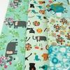 Naocom for Cotton + Steel, Kawaii Nakama, I Heart Elephants Turquoise