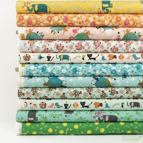 Naocom for Cotton + Steel, Kawaii Nakama in FAT QUARTERS 11 Total