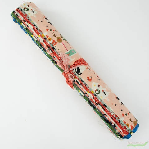 Naocom for Cotton + Steel, Waku Waku Christmas, Entire Collection PRE-CUT Fat Quarter Fabric Roll