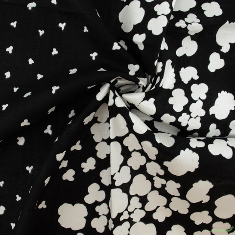 Naomi Ito for Kokka Japan, Nani Iro Double Gauze, Peaceful Cooing Black